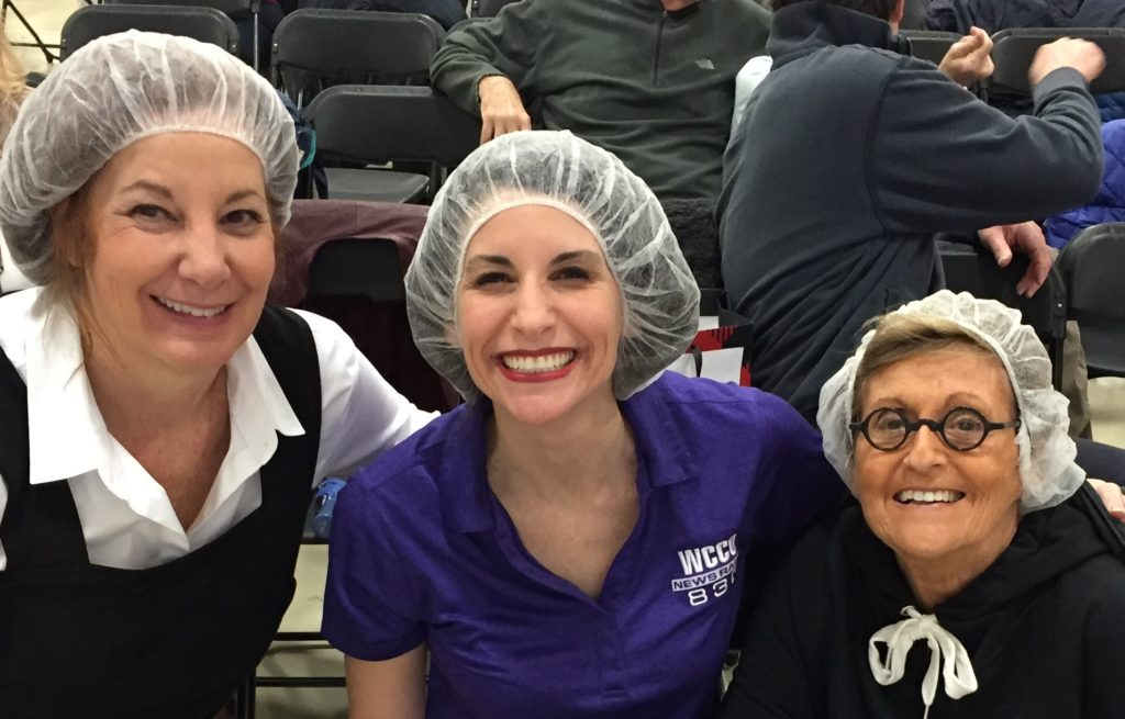 Honored to sport the hair nets with Jordana Green and Sue Zelickson