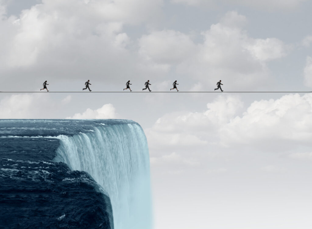 Running a marathon on a tightrope